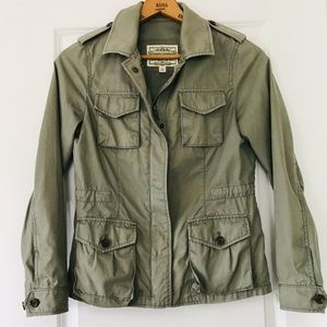 Banana Republic Safari Co olive utility jacket